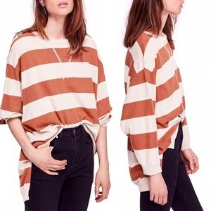 Free People | Surfin' On Your Stripes Top Size M/L